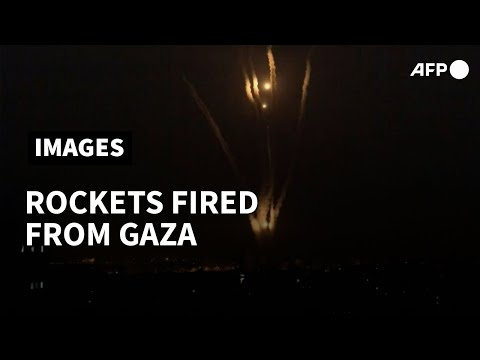 Rockets launched from Gaza towards Israel   AFP