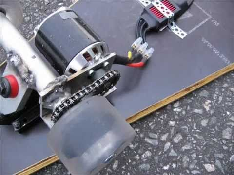 DIY electric skateboard 1  YouTube