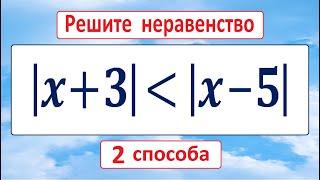 ДВА БЫСТРЫХ СПОСОБА решения неравенства  x+3 ≤ x-5  ★ Как решать?