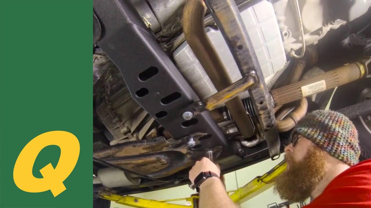 Jeep Wrangler Jk >> JcrOffroad Transmission Crossmember Installation for Jeep Wrangler JK and JKU - YouTube