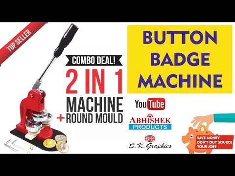 Button Badge Machine [How To Making Button Badge Complete Guide] | Buy Online www.abhishekid.com