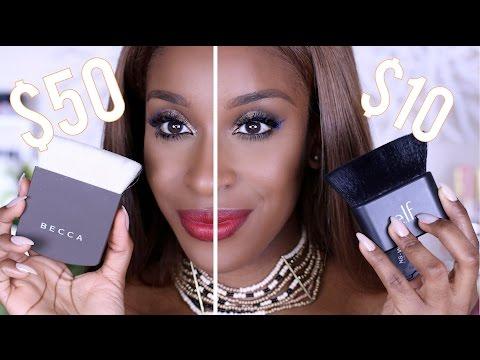 $50 Becca Brush VS. $10 e.l.f. Brush?! | Jackie Aina thumbnail