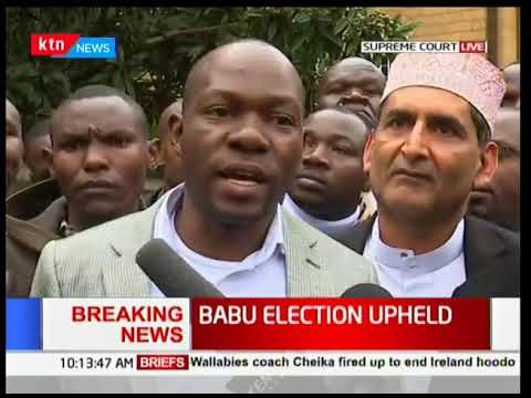 Babu Owino election upheld by the court