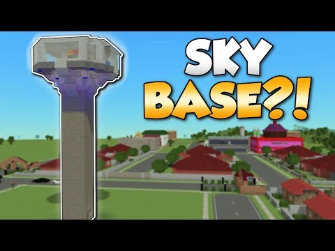 BUILDING A SKYBASE!? - Voxel Turf Gameplay - Turf Zero City Building