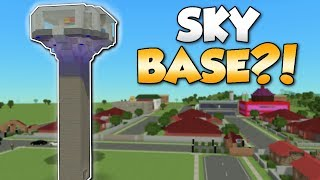 BU LD NG A SKYBASE   Voxel Turf Gameplay   Turf Zero City Building