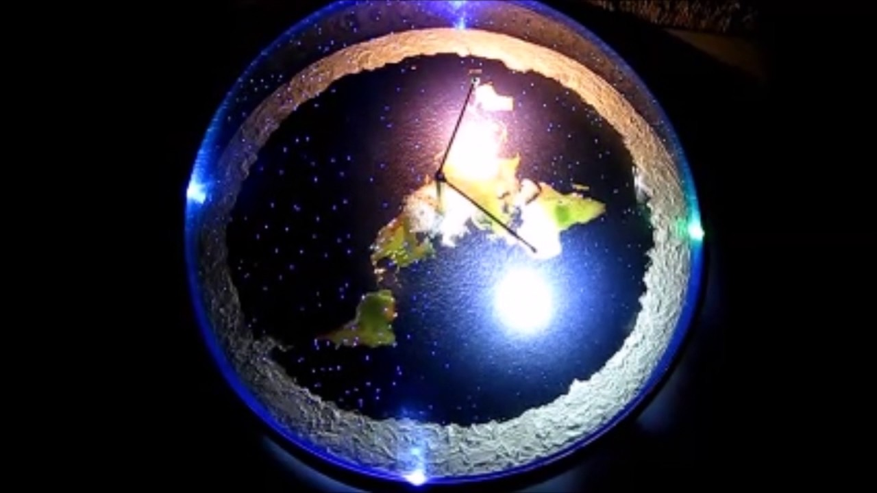 2017 Flat Earth 3d Model With Firmament Stars Chris