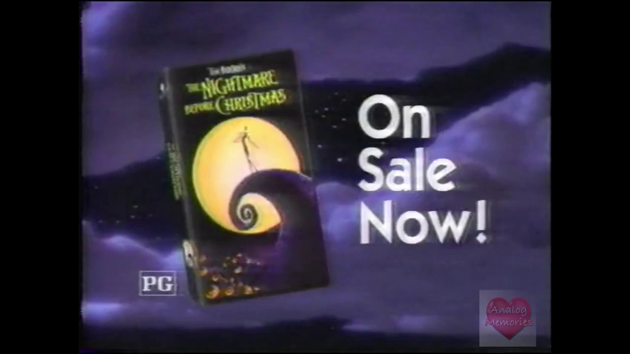 The Nightmare Before Christmas | VHS | Television Commercial | 1994 ...