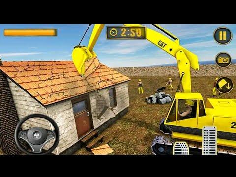 EXCAVATOR BEKO KERUK Crane House Moving - Excavator Construction Simulator 2019 - Android Game