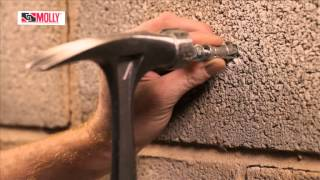 BOLT SHIELD ANCHOR - How to use Molly Fixing Bolts for Really Heavy Jobs in Solid Concrete