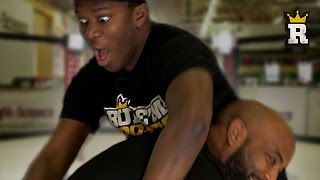 KSI learns the MMA DOUBLE LEG TAKEDOWN | Rule