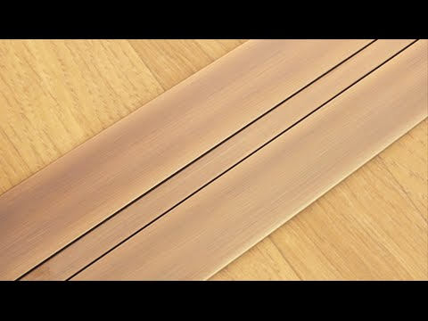 Fitting the Stairrods UK Posh55 Door Threshold on Floating Laminate