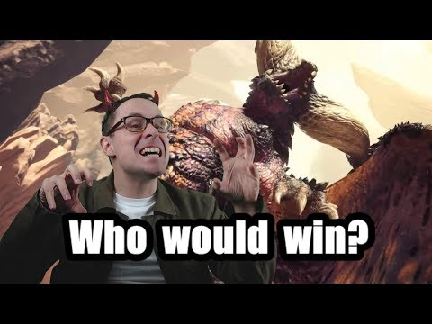 Who would win? - (Monster Hunter World - PS4 Pro 1080p60 Graphics Setting)