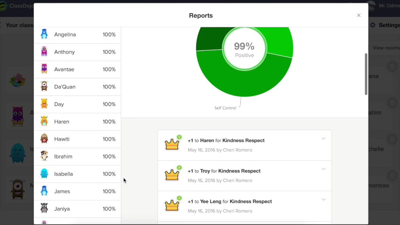 How To Use The Class Dojo Reports To Track Student Progress Mov Youtube