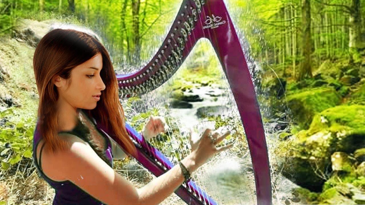 Download Harpe relaxante et joli ruisseau, chants d'oiseaux, musique zen relaxation, nature, paix, méditation