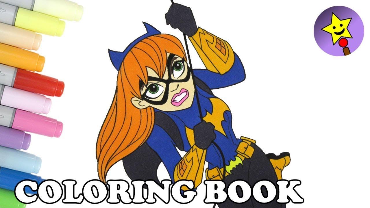 dc super hero girls batgirl coloring book page dc superhero girls