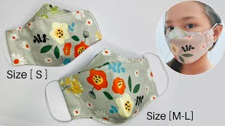 3D Face Mask No FOG DIY Face Mask Sewing Tutorial Size Small Medium
