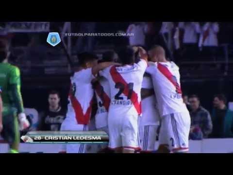Gol de Ledesma. River 3 - Quilmes 0. Fecha 19. Torneo Final 2014. FPT