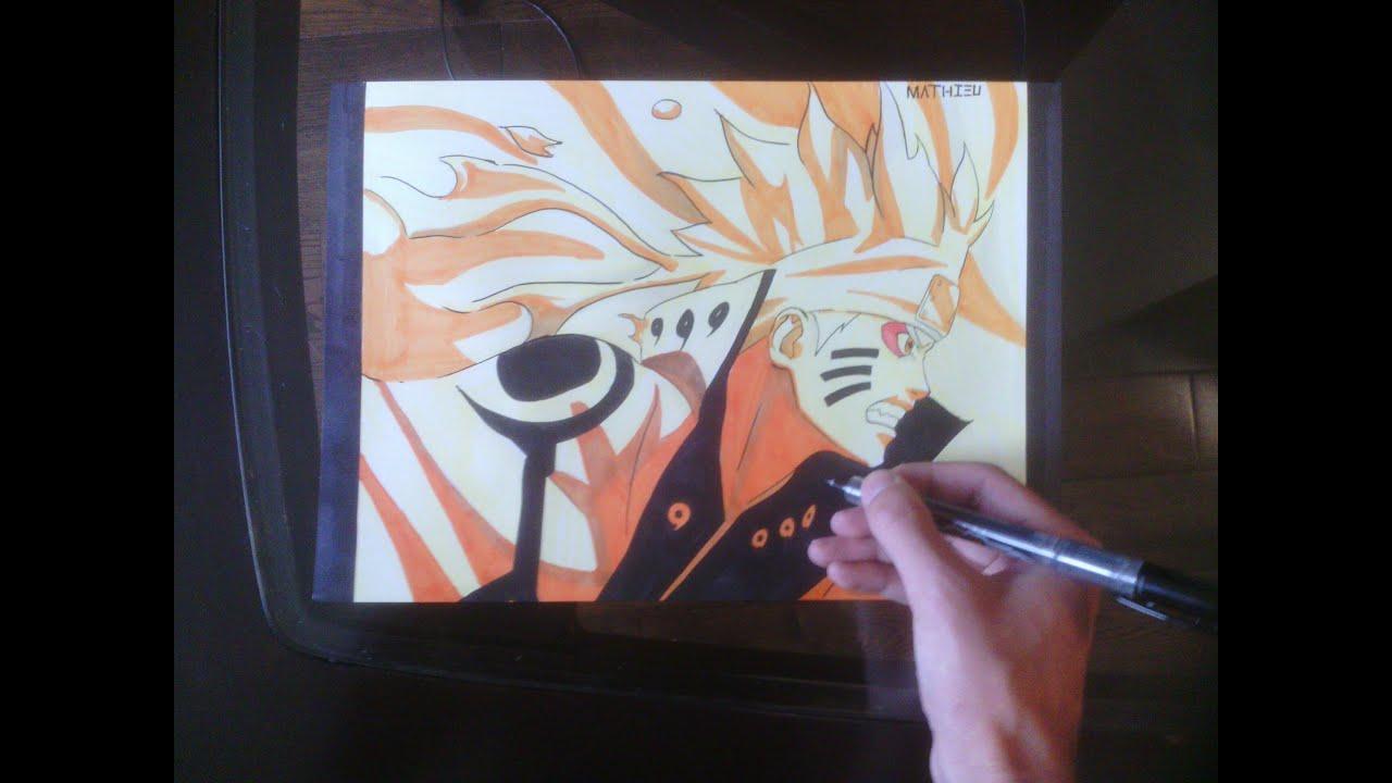 [Naruto] How To Draw Naruto Sage Bijuu Mode / Comment Dessiner Naruto Kyuubi Chakra Ermite Mode