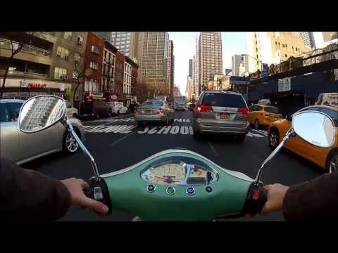 Scooting into work from Queens to Manhattan (POV)