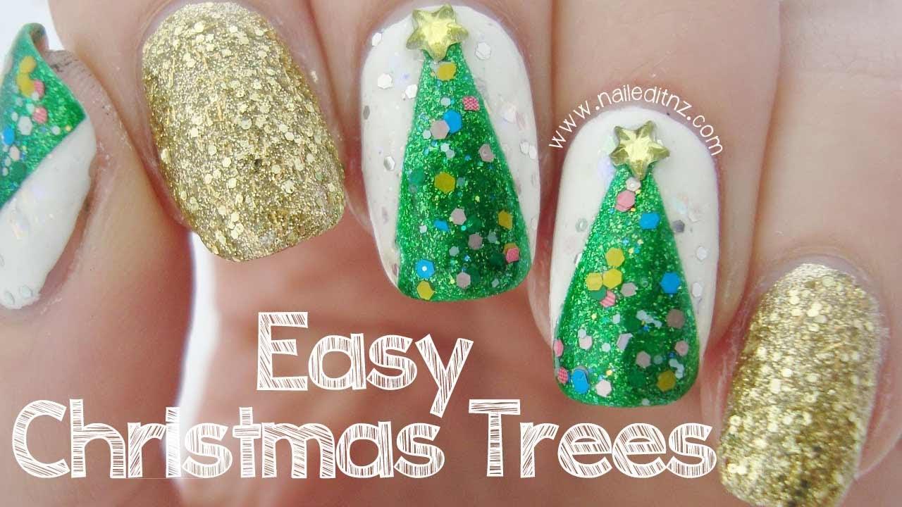 Nail Art Christmas Tree Lights Wwwtopsimagescom