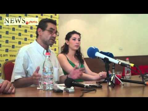 Press-conference of Armenian cinema and theatre university principal