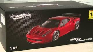 精巧なモデルカー フェラーリ 458 イタリア gt2 ランチ ラウンチ バージョン ferrari 458 italia gt2 launch ver hot wheels elite 1