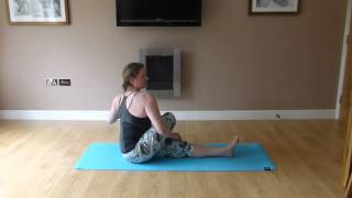 Sarah Harrison Hot Pod Yoga - Ardha Matsyendrasana (Half Lord of the Fishes)