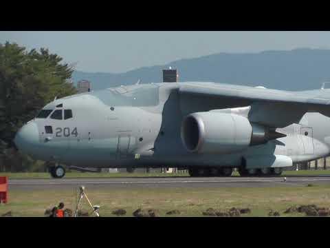 [10/26] ど迫力!!  空自 大型輸送機 C-2 テイクオフ 小牧基地。