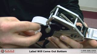 Changing Labels On The Towa Samurai GS, 1 Line Labeler
