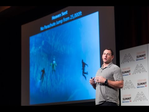 Skydiver Luke Aikins at the 2016 GeekWire Summit