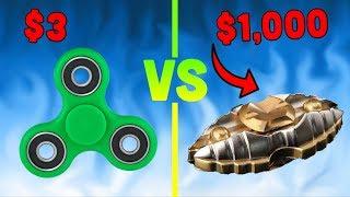$3 FIDGET SPINNER vs. $1000 EGYPTIAN FIDGET SPINNER!!
