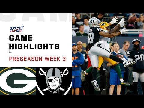 Packers vs. Raiders Preseason Week 3 Highlights | NFL 2019