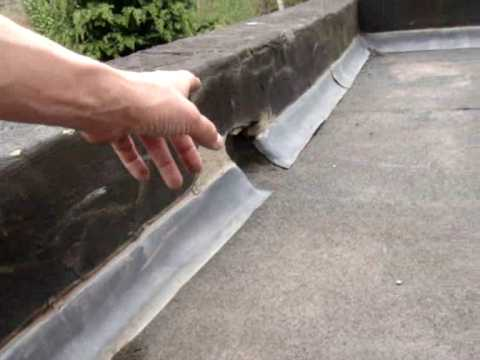 Leaking Roof From A Parapet Wall Youtube