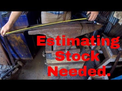 Estimating stock needed.