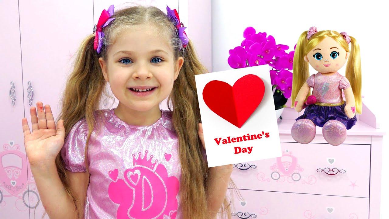 Diana y Roma hacen sus Tarjetas de Dia de San Valentín