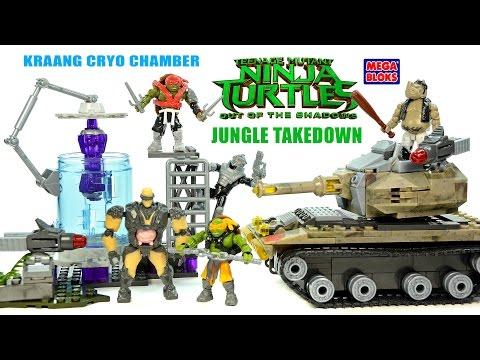 Mega Bloks Teenage Mutant Ninja Turtles: Out of the Shadows Kraang Cryo Chamber & Jungle Takedown