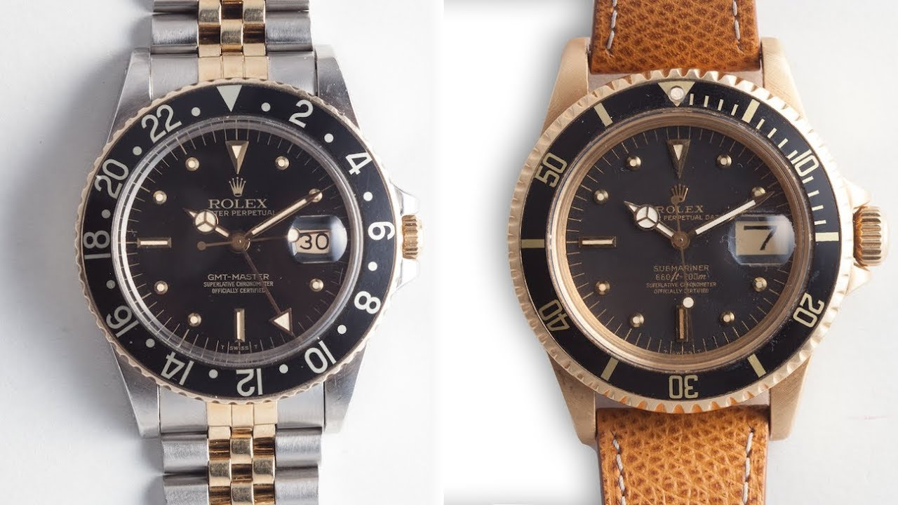 152c9fa447a Two Grail Worthy Rolexes  A Solid Gold Submariner   A Two-Tone GMT ...