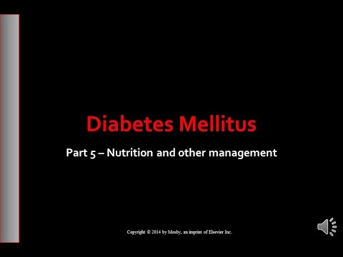 Part 5   Diabetes Mellitus   Nutritional Therapy & Exercise