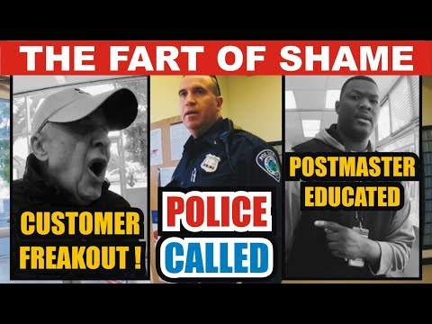 First Amendment AUDIT 6: USPS Postmaster Schooled - WILD Customer Freakout - POLICE Montauk , NY