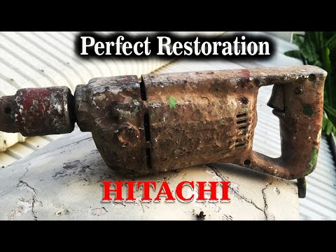 Restoration/ Very Dirty Electric Paint Mixer to Be Drill/ Hitachi Drill Rescue /Japan