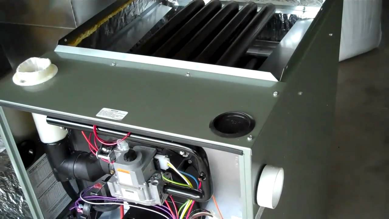 Rheem RGRM 90 two stage gas furnace installation  YouTube