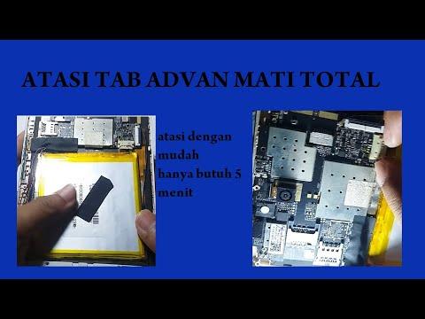 Tablet advan vandroid T1G atau T1F mati total, setelah pengecekan mesin pada pin baterai menggunakan.