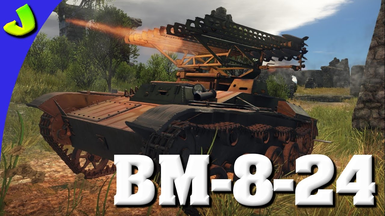 War Thunder-BM-8-24 Katyusha Rocket launcher Realistic Premium Gameplay