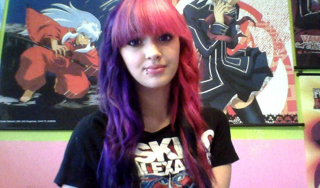 Tumblr girls with brown dip dyed hair