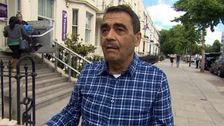 Husband searches for wife after London fire
