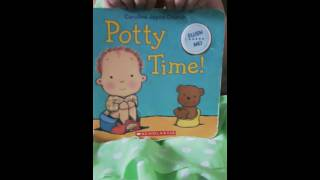 Potty time book reading by: Gloria
