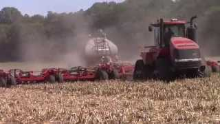 Case IH 600 Quadtrac Seeding Winter Wheat with a 60ft 500 Air Drill