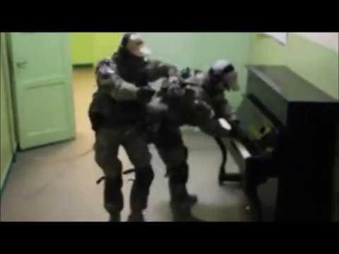 Polish soldier plays