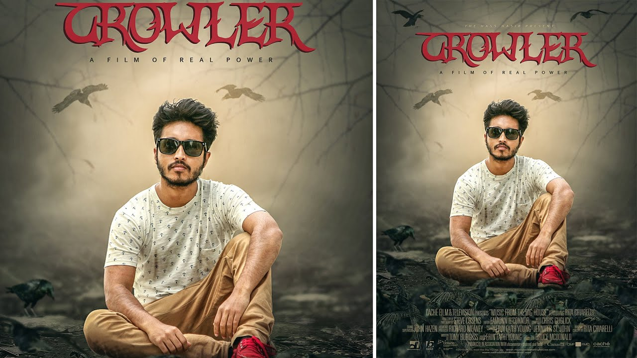 Poster design with photoshop - The Crowler Movie Poster Design Photoshop Manipulation Tutorials Youtube