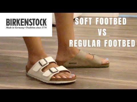 COMPARISON   Birkenstock Arizona SOFT FOOTBED VS REGULAR FOOTBED